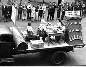 Factory float in War Loan Rally, 1944